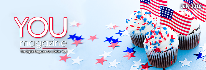 Image: You Magazine logo with Fourth of July cupcakes